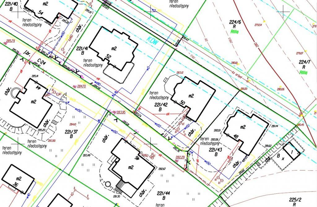 przykłądowa mapa do celów projektowych - osiedla Kraków